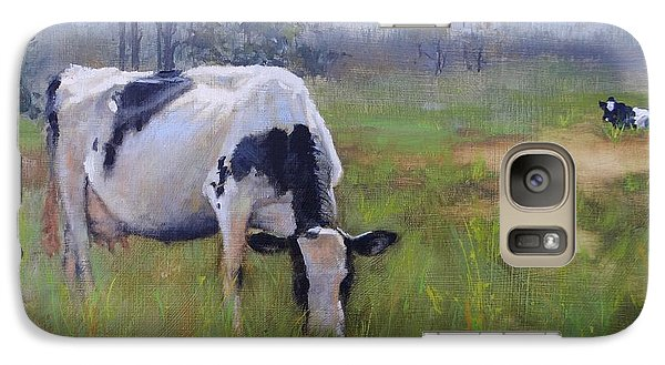 Galaxy Case featuring the painting Peace On Earth Four by Laura Lee Zanghetti