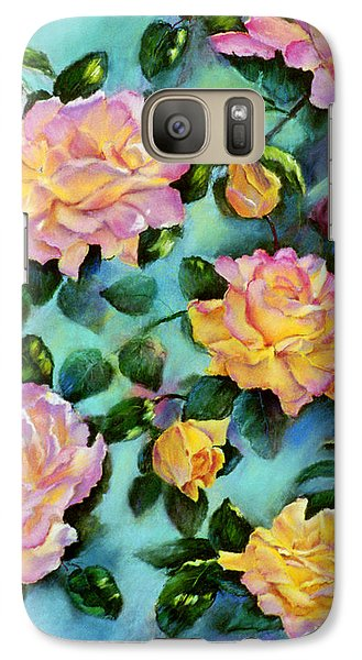 Galaxy Case featuring the pastel Peace Opus by Ann Peck