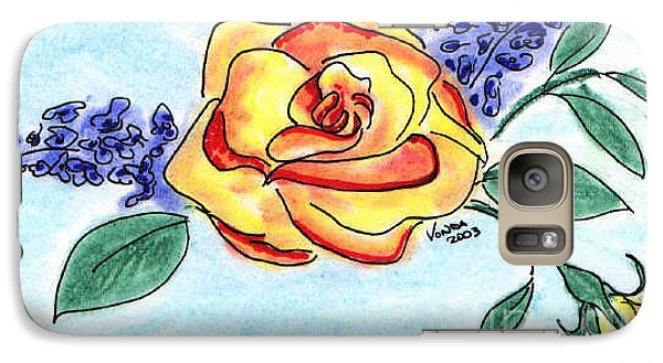 Galaxy Case featuring the drawing Peace Rose by Vonda Lawson-Rosa