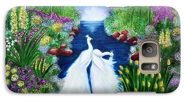 Galaxy Case featuring the painting Peace by Saranya Haridasan