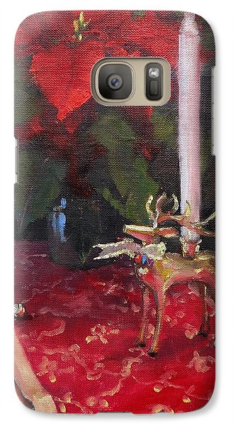 Galaxy Case featuring the painting Peace To All by Laura Lee Zanghetti