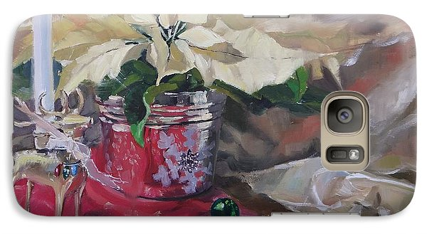 Galaxy Case featuring the painting Peace To All Three by Laura Lee Zanghetti