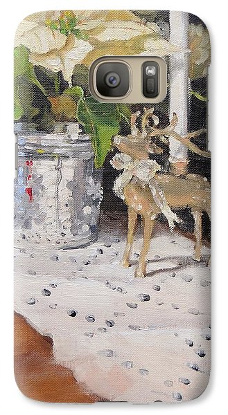 Galaxy Case featuring the painting Peace To All Two by Laura Lee Zanghetti