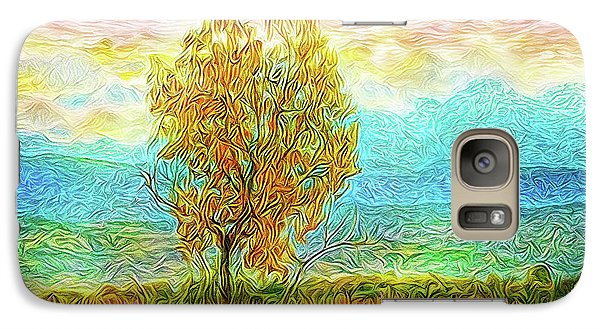 Peace Tree Sunset Galaxy S7 Case by Joel Bruce Wallach