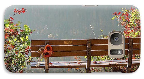 Galaxy Case featuring the photograph Peaceful Bench by George Randy Bass