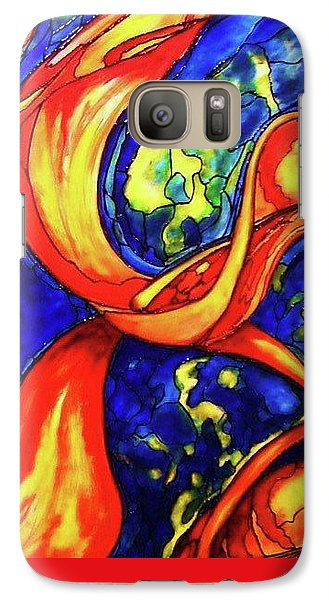 Galaxy Case featuring the painting Peaceful Coexistence by Rae Chichilnitsky