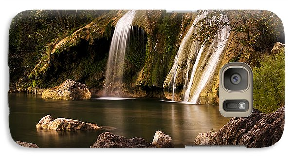 Galaxy Case featuring the photograph Peaceful Day At Turner Falls by Tamyra Ayles