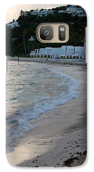 Galaxy Case featuring the photograph Peaceful Evening On Dawn Beach by Margaret Bobb