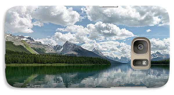 Galaxy Case featuring the photograph Peaceful Maligne Lake by Sebastien Coursol