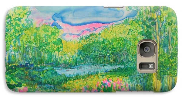 Galaxy Case featuring the painting Peaceful Moments by Susan D Moody
