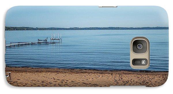 Galaxy Case featuring the photograph Grand Traverse Bay Beach-michigan  by Joann Copeland-Paul