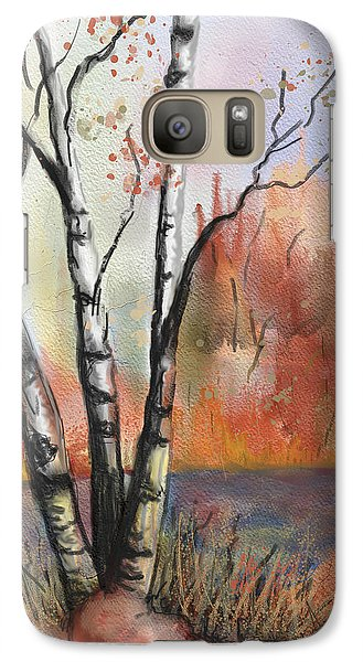 Galaxy Case featuring the painting Peaceful River by Annette Berglund