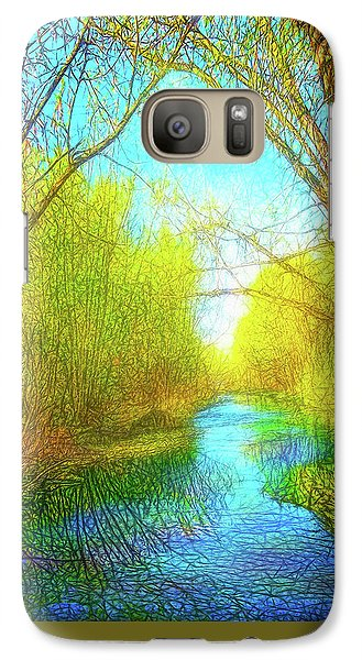 Peaceful River Spirit Galaxy S7 Case by Joel Bruce Wallach