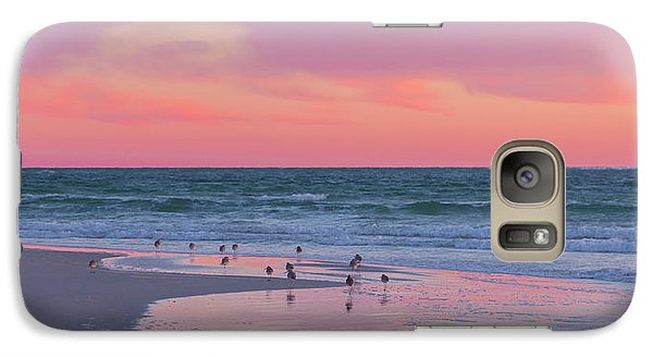 Sandpiper Galaxy S7 Case - Peaceful Witnesses  by Betsy Knapp
