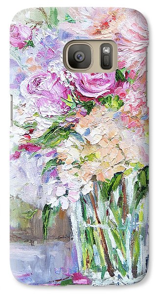 Galaxy Case featuring the painting Peach And Pink Bouquet by Jennifer Beaudet