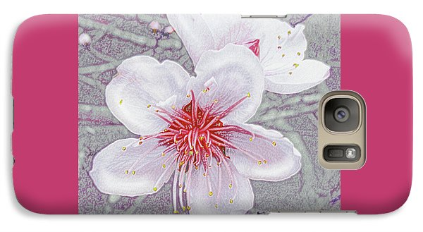 Galaxy Case featuring the digital art Peach Blossoms by Jane Schnetlage