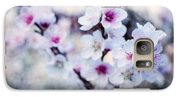 Galaxy Case featuring the photograph Peach Flowers by Laura Melis