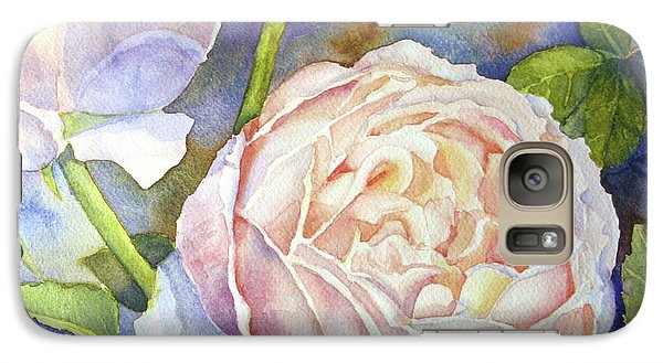 Galaxy Case featuring the painting Peach Roses by Bonnie Rinier