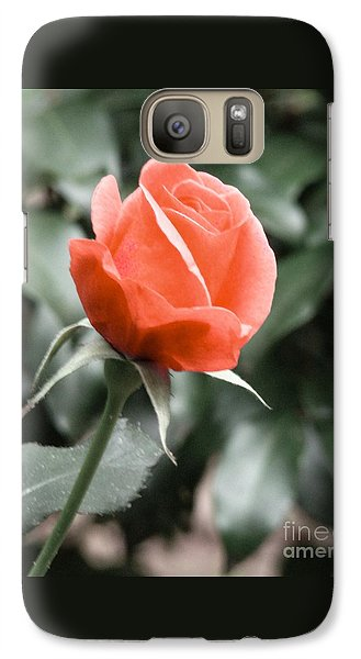 Galaxy Case featuring the photograph Peachy Rose by Rand Herron
