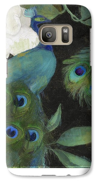 Peacock Galaxy S7 Case - Peacock And Magnolia II by Mindy Sommers