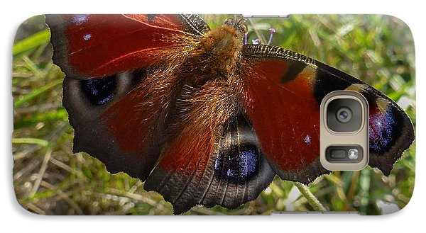 Galaxy Case featuring the photograph Peacock Butterfly by Jean Bernard Roussilhe
