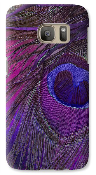 Peacock Candy Purple  Galaxy S7 Case by Mindy Sommers