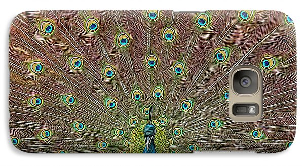 Galaxy Case featuring the photograph Peacock Fanfare by Diane Alexander