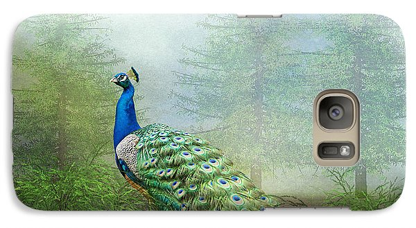Galaxy Case featuring the photograph Peacock In The Forest by Bonnie Barry