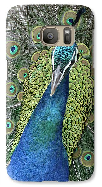 Galaxy Case featuring the photograph Peacock by Matthew Bamberg