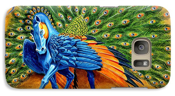 Peacock Pegasus Galaxy Case by Melissa A Benson