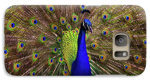 Galaxy Case featuring the photograph Peacock Showing Breeding Plumage In Jupiter, Florida by Justin Kelefas