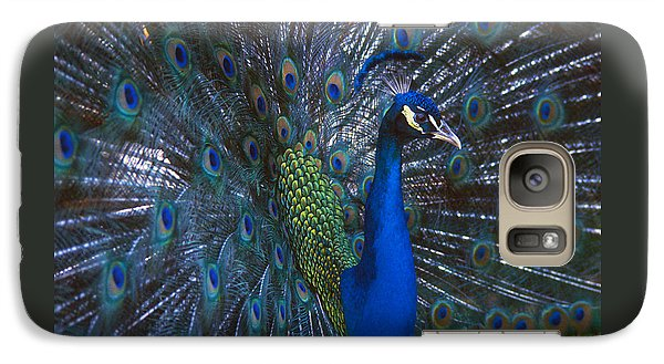 Galaxy Case featuring the photograph Peacock Splendor by Marie Hicks