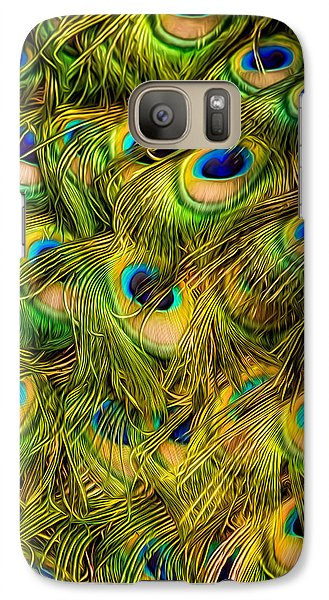 Galaxy S7 Case featuring the photograph Peacock Tails by Rikk Flohr