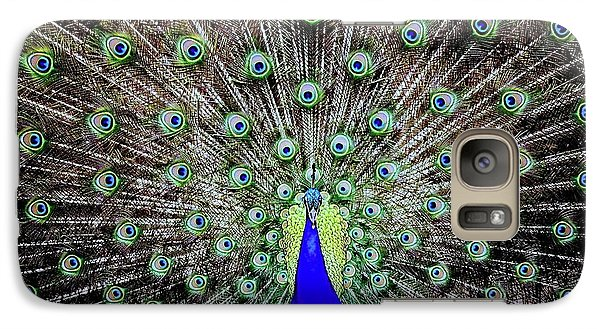 Galaxy Case featuring the photograph Peacock by Vivian Krug Cotton