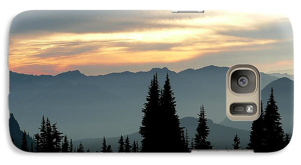 Galaxy Case featuring the photograph Peaks And Valley by Larry Keahey