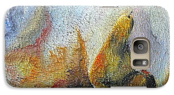 Galaxy Case featuring the mixed media Pear And Pearl by Dragica  Micki Fortuna