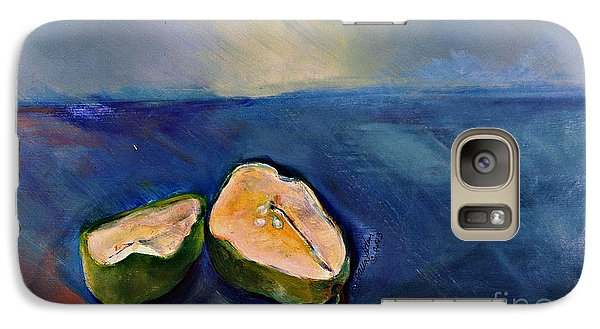 Galaxy Case featuring the painting Pear Split by Daun Soden-Greene