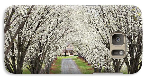 Galaxy Case featuring the photograph Pear Tree Lane by Benanne Stiens