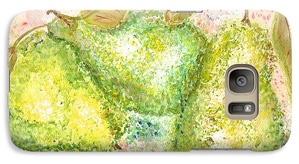 Galaxy Case featuring the painting Pear Trio by Paula Ayers