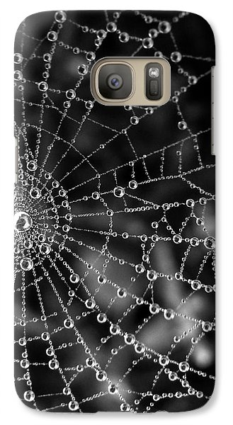 Galaxy Case featuring the photograph Pearls In Black And White by Misha Bean