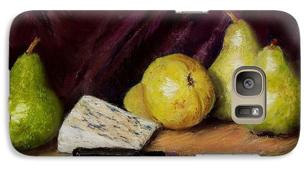 Galaxy Case featuring the pastel Pears And Cheese by Jack Skinner