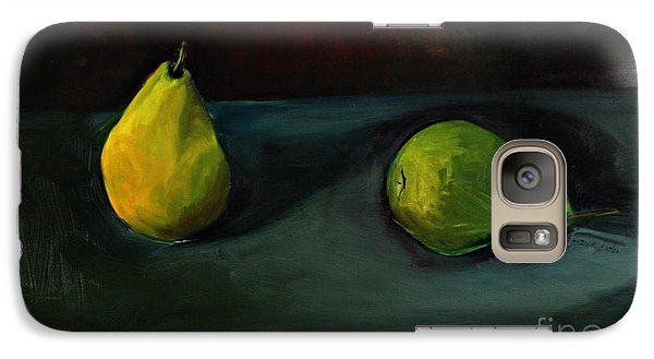 Galaxy Case featuring the painting Pears Apart by Daun Soden-Greene