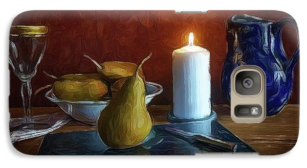 Galaxy Case featuring the photograph Pears By Candlelight by Mark Fuller