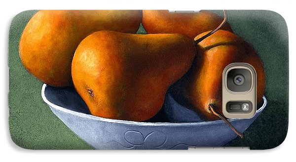 Pears In Blue Bowl Galaxy S7 Case by Frank Wilson