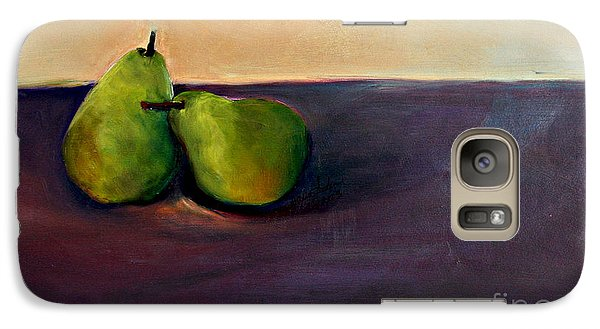 Galaxy Case featuring the painting Pears One On One by Daun Soden-Greene