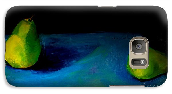 Galaxy Case featuring the painting Pears Unpaired by Daun Soden-Greene