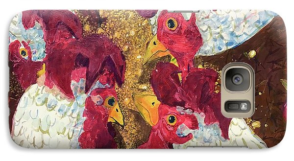 Galaxy Case featuring the painting Pecking Order by Jame Hayes