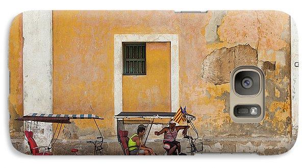 Galaxy Case featuring the photograph Pedicabs At Convento De Santa Clara Havana Cuba by Charles Harden
