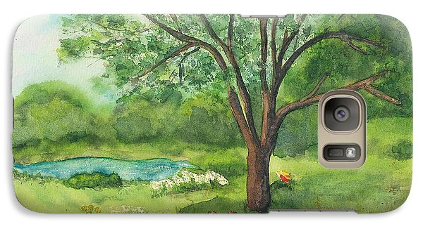 Galaxy Case featuring the painting Pedro's Tree by Vicki  Housel