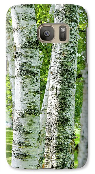 Galaxy Case featuring the photograph Peek A Boo Birch by Greg Fortier